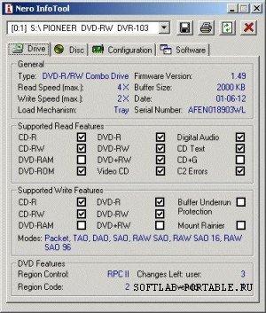 Nero InfoTool 5.33 Portable Rus