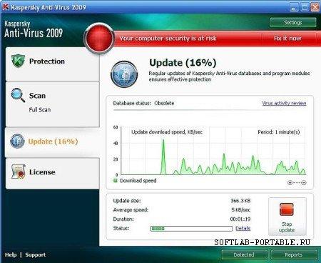 Kaspersky AntiVirus 2009 Portable