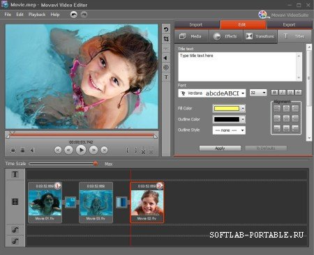 Movavi Video Editor 21.0.0 Portable