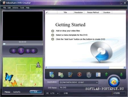 Joboshare DVD Creator 2.5.8.0918 Portable
