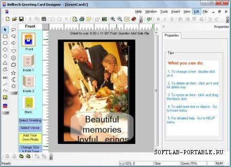 Belltech Greeting Card Designer 5.4 Portable