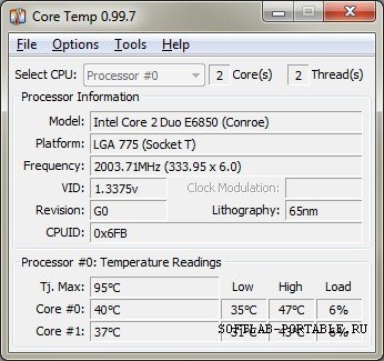 CoreTemp 1.15.1 Final Portable