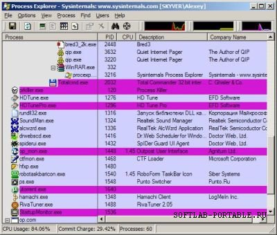 Process Explorer 16.32 Portable