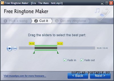 Musetips Free Ringtone Maker 2.5.0.2149 Portable
