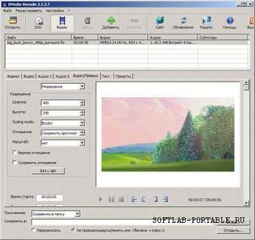 XMedia Recode 3.5.2.3 Portable