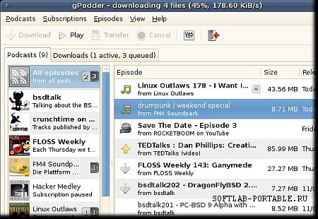 gPodder 3.10.16 Portable