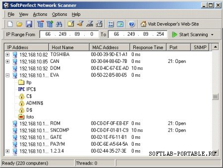 SoftPerfect Network Scanner 8.0 Portable