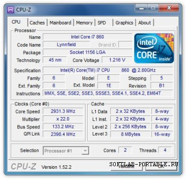 CPU-Z 1.92 Portable