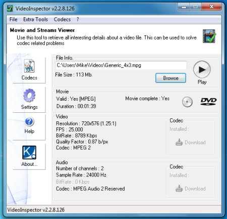 VideoInspector 2.15.4.148 Portable