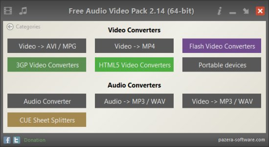 Pazera Free Audio Video Pack 2.21 Portable